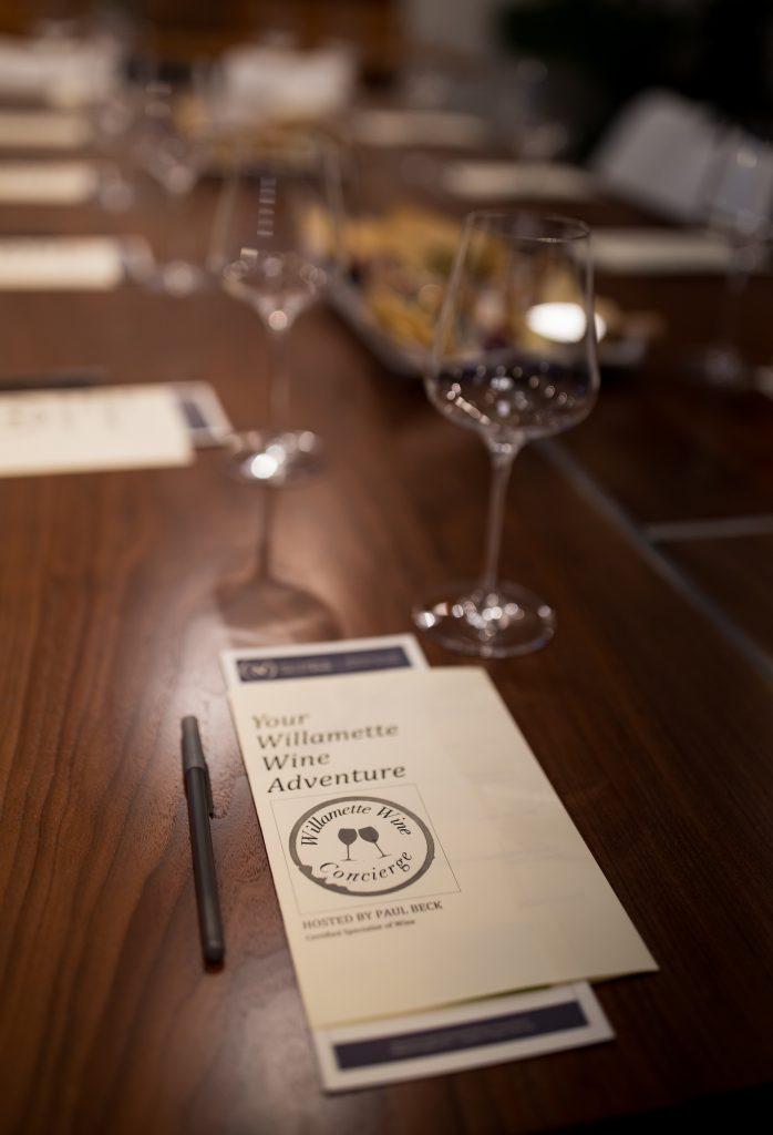 Willamette Wine Concierge wine tasting